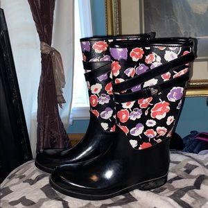 Coach floral Trisha 2 rain boots galoshes wellies